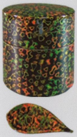 津軽塗 茶筒(8.5×9.5) 茶べら(10.0) セット 呂