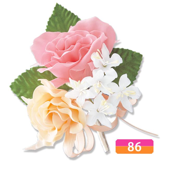 コサージュ 4年保証 入学式 卒業式 入園式 卒園式 フォーマル 薔薇 バラ 卒業 卒園薔薇 オレンジ 入園 ピンク ミックスローズ 開催中 入学 #86コサージュ