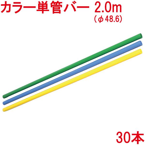 カラー単管バー(2.0m) 30本【個人宅・現場発送不可】