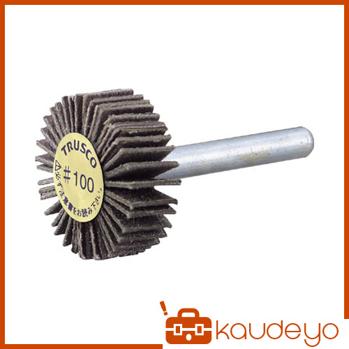 TRUSCO ダイヤ軸付フラップホイール オールダイヤ Φ50X軸径6 180# PDF50206A 3100180