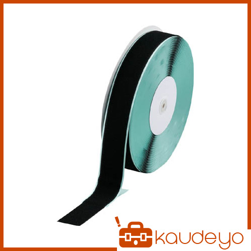 TRUSCO マジックテープ 糊付A側 幅50mmX長さ25m 黒 TMAN5025BK 3100