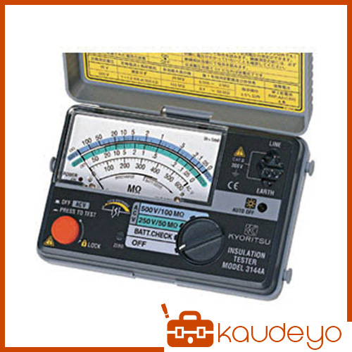 KYORITSU 2レンジ小型絶縁抵抗計 MODEL3161A 2466