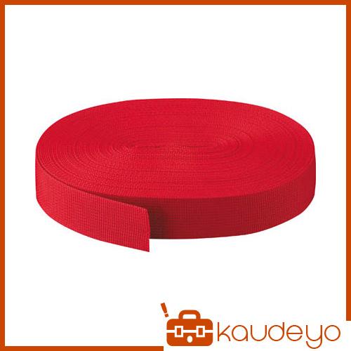 TRUSCO PPベルト幅50mmX長さ50m 赤 PPB5050 3100R
