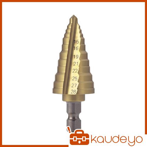 TRUSCO 電気設備用ステップドリル 2枚刃チタンコーティング 15~28mm NMS28EG 5100