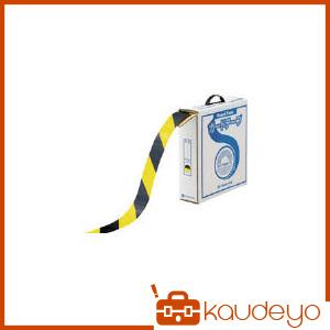 緑十字 ラインテープ(ガードテープ) 黄/黒 50mm幅×100m 屋内用 148062 7047