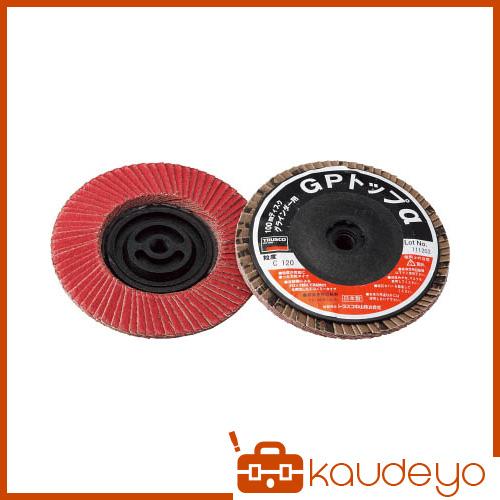 TRUSCO GPトップα ねじ込み式 セラミック 100Φ 120# 10入 GP100ALC120 3100