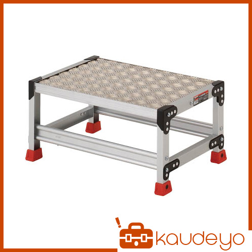 TRUSCO 作業用踏台 アルミ製・縞板タイプ 天板寸法600X400XH300 TSFC163 8000