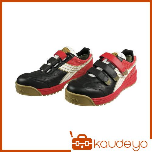 ディアドラ DIADORA 安全作業靴 ロビン 黒/白/赤 25.5cm RB213255 4321