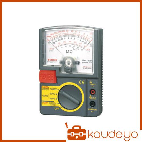 SANWA アナログ絶縁抵抗計 500V/250V/125V PDM5219S 3288