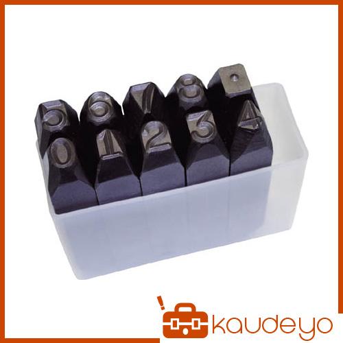 TRUSCO 逆数字刻印セット 10mm SKB100 3100