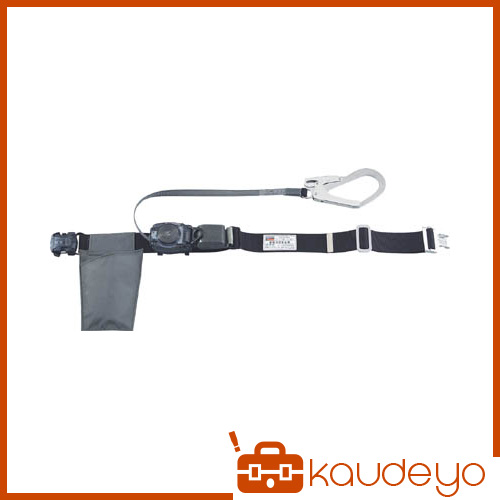 TRUSCO 巻取り式安全帯1本つり専用 幅50mmX長さ1200mmブラック GROT593BK 3100