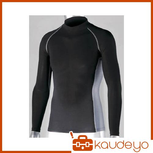 おたふく 冷感 消臭 パワーストレッチ長袖ハイネックシャツ ブラック L JW625BKL 1087