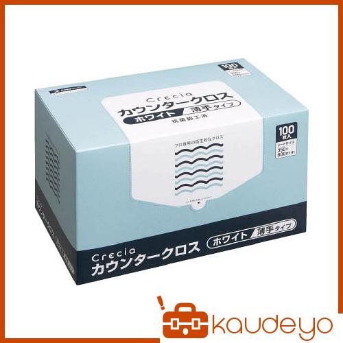 クレシア カウンタークロス 薄手タイプ ホワイト 65402 2048