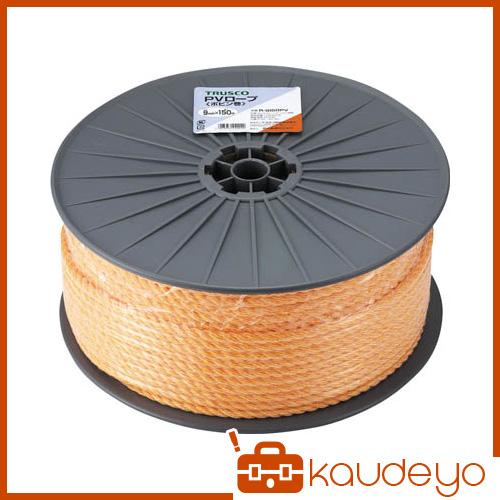 TRUSCO PVロープ 3つ打 線径12mmX長さ100m R12100PV 3100