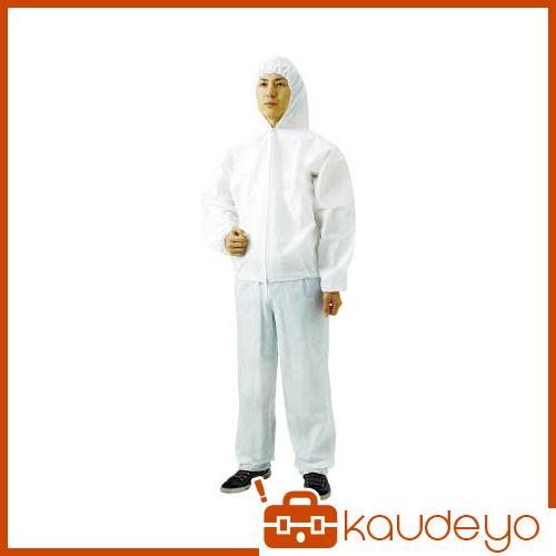 TRUSCO まとめ買い 不織布使い捨て保護服フード付ジャンバー 3L 60入 TPCF3L60 8539