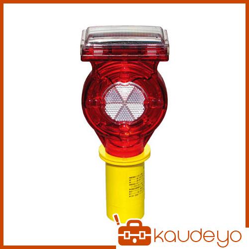 NETIS登録製品 KK-110043-A です 電源のいらないソーラータイプの工事灯です 赤LEDが明るく点滅し無日照で約10日間は点灯し続けます カットコーン径φ40mmに対応しています 2111 キタムラ カットコーン用 数量限定 ソーラー式セフティーフラッシュ SF7C 年中無休