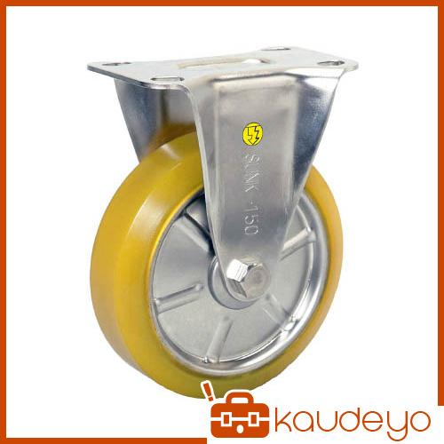 シシク ステンレスキャスター 制電性ウレタン車輪付固定 SUNK100SEUW 3047