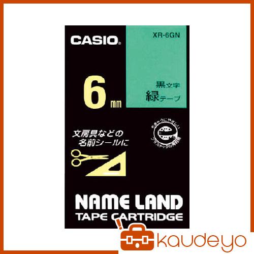 カシオ 新作送料無料 ネームランド用テープカートリッジ 粘着タイプ 6mm 新作製品 世界最高品質人気 2007 XR6GN