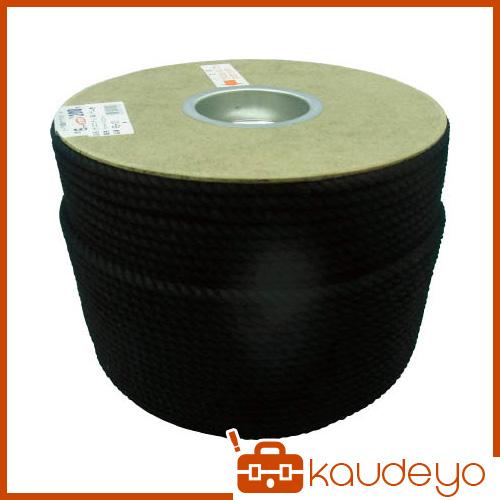 ユタカ ポリエステルロープ ドラム巻 6φ×200m 黒 PRS101 8200
