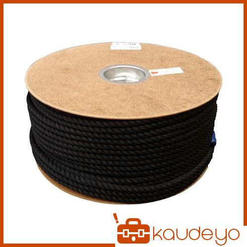 ユタカ ポリエステルロープ ドラム巻 9φ×150m 黒 PRS51 8200
