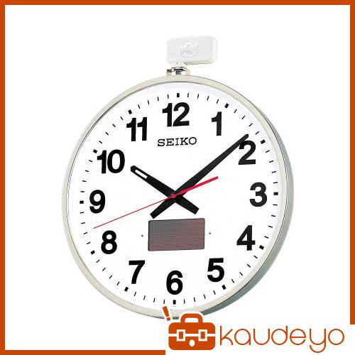 SEIKO ソーラー屋外用大型電波掛時計 527×450×78 金属枠 SF211S 8695