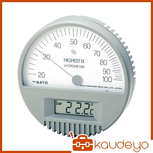 佐藤 湿度計 ハイエスト2型湿度計(温度計付) 754200 3011