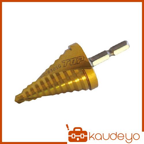 TOP 電動ドリル用六角シャンクスパイラルステップドリル ゴールドタイプ ESD630SG 8743