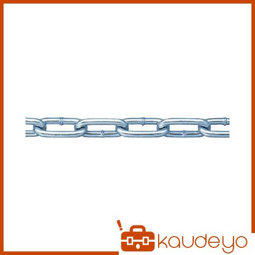 ニッサチェイン 鉄ユニクロ溶接リンクチェイン 6.5mmX30M IW2065 5123