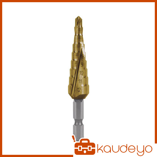 RUKO スパイラルステップドリル 12mm チタン 1010509TH 8137