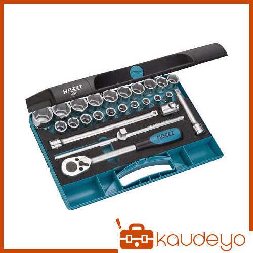 HAZET ソケットレンチセット(6角タイプ・差込角12.7mm) 900 6307