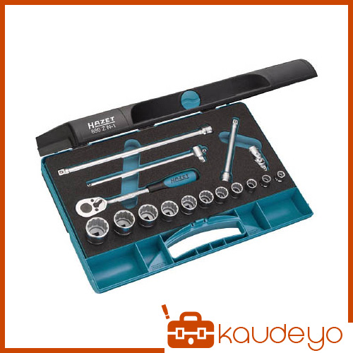 HAZET ソケットレンチセット(12角タイプ・差込角9.5mm) 880ZN1 6307