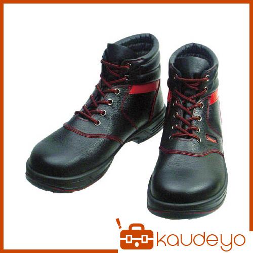 シモン 安全靴 編上靴 SL22-R黒/赤 24.0cm SL22R24.0 3043