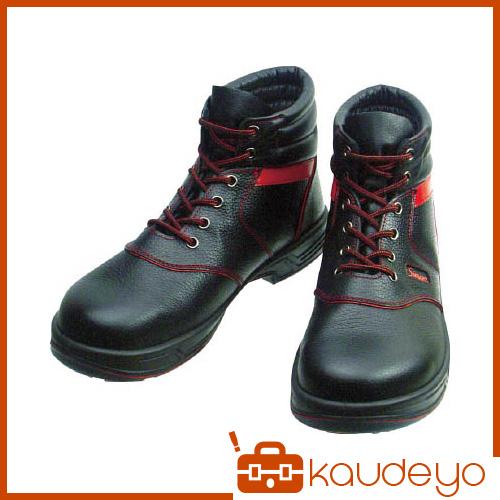 シモン 安全靴 編上靴 SL22-R黒/赤 24.5cm SL22R24.5 3043