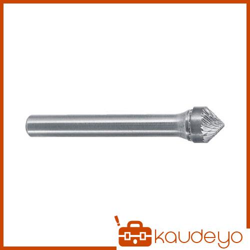 スーパー 超硬バーシャンク径6ミリ(円錐型90度)ダブルカット(刃径:19.0 SB49C05 3063