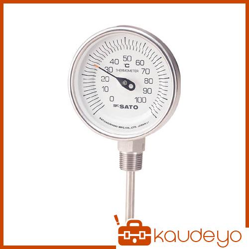 佐藤 バイメタル温度計BMーS型 BMS90S4 3011
