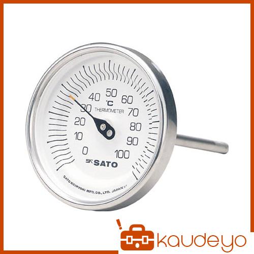ケースねじ感温部の材質がすべてステンレス SUS304 当店は最高な サービスを提供します ですので防錆防食に優れています 佐藤 BMT90S3 最新アイテム 3011 バイメタル温度計BM-T型
