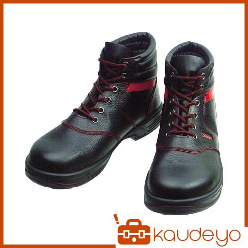 シモン 安全靴 編上靴 SL22-R黒/赤 23.5cm SL22R23.5 3043