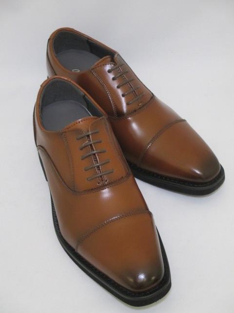 ヒールアップビジネスシューズ antiba segreto 6cmアップ 送料無料 革靴 本革 ビジネス オフィス リクルート 就活 就職活動 シークレット ヒールアップ ブラウン