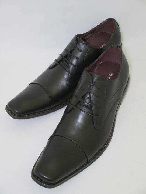 遊びと仕事がコンセプト 今の細身のスーツにぴったりのロングノーズに特徴的な丸みのあるヒール オンオフ共に履きこなせる遊び心たっぷりの革靴です Bump N'GRIND 未使用品 バンプアンドグラインド BG-2799 送料無料 オフィス 贈与 ビジネス 黒 革靴 スーツ ブラック ロングノーズ オフィスカジュアル