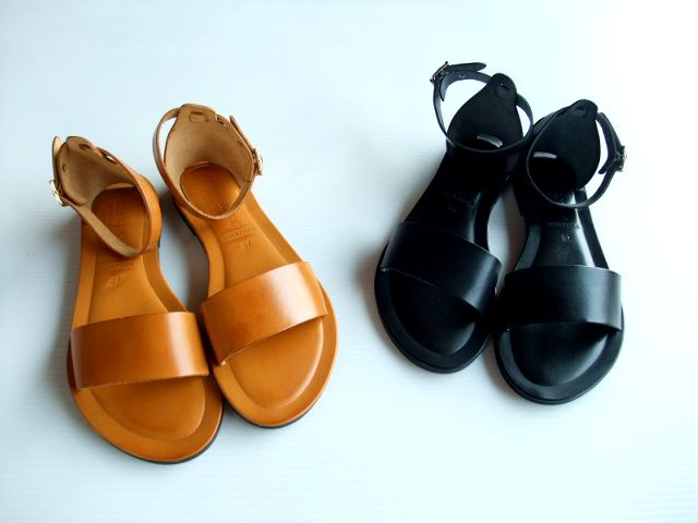 【CORSO ROMA 9(コルソローマ)】#67 washed leather sandals ANKLE STRAP(2色)(23.0cm~24.5cm/4サイズ)★[送料込み]
