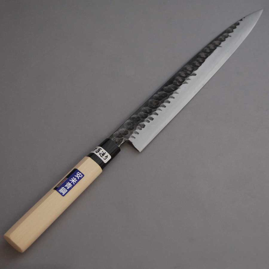 安来青紙鋼使用 全店販売中 低価格化 黒打槌目安来青鋼柳刃刺身包丁300mm 送料無料