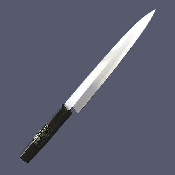 손 銀紙 단일 예리하게 고리 버들 잎 사시 미 칼 300mm 단 무늬