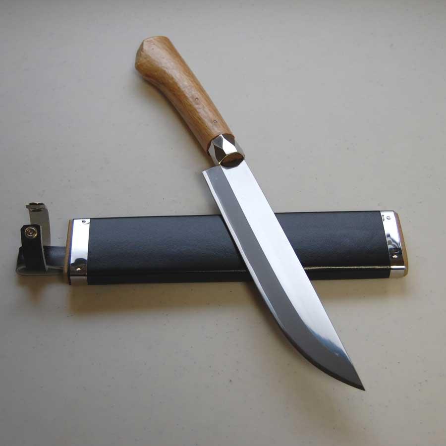 手打 鍛造 両刃剣鉈 210mm 山刀