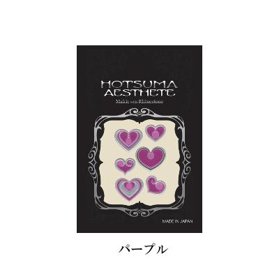 蒔絵シール NEW売り切れる前に☆ AESTHETE ハート×6 売店 パープル 紫 イースシート