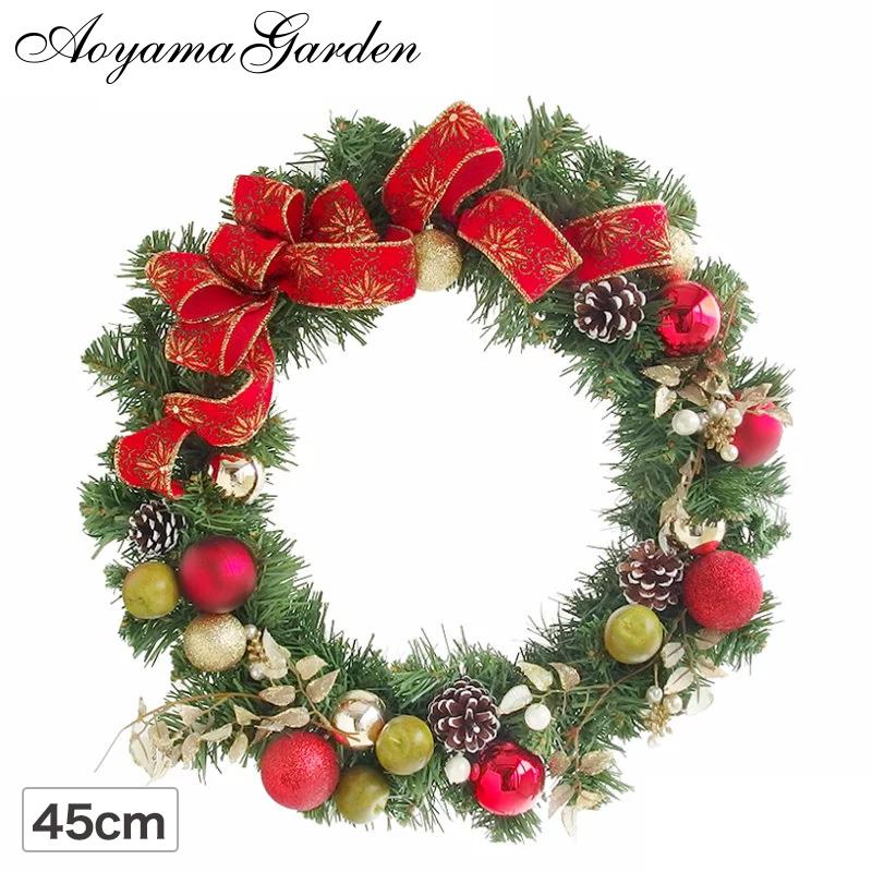クリスマスリース 造花/グリーンリース(フレア)φ45cm/クリスマス/イベント/送料区分A