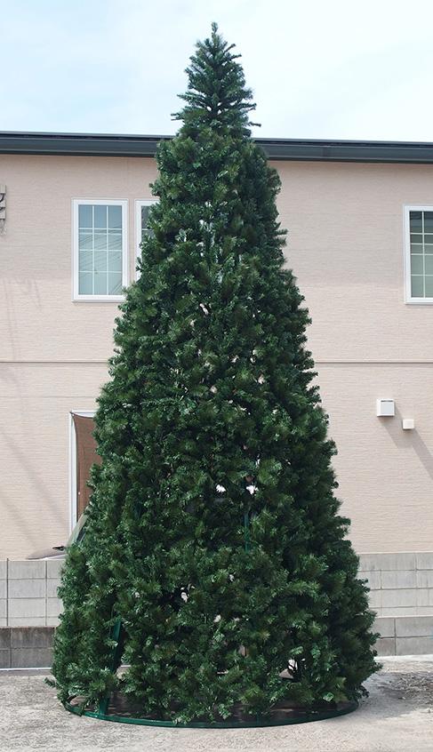 クリスマス ツリー 大型 店舗 施設 イベント 人工植物 / スリムコーンツリ- 5m /D