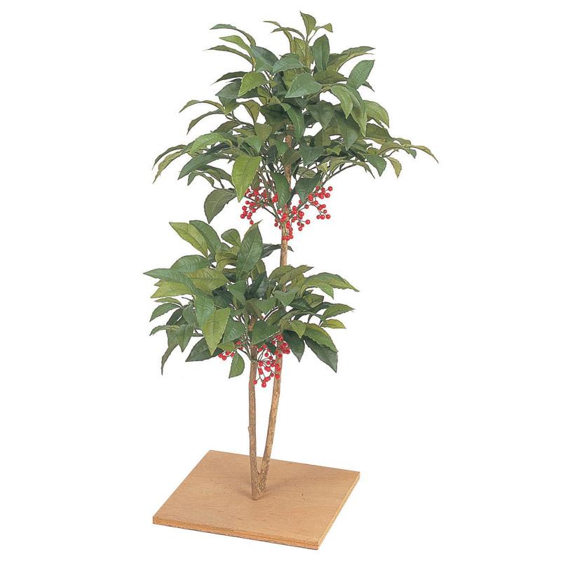 業務用クオリティの本物みたいなリアルな質感 坪庭の装飾に最適です 予約販売 人工観葉植物 造花 業務用 施設 オフィス 店舗 ディスプレイ マンリョウ80cm 飾り B グリーン フェイク おしゃれ 装飾 タカショー