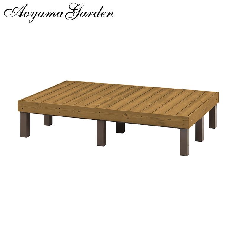 デッキ 縁台 木 ウッド アルミ 耐久性 ユニット 庭 ガーデン タカショー / サーモウッドデッキ 1800×1200 /D