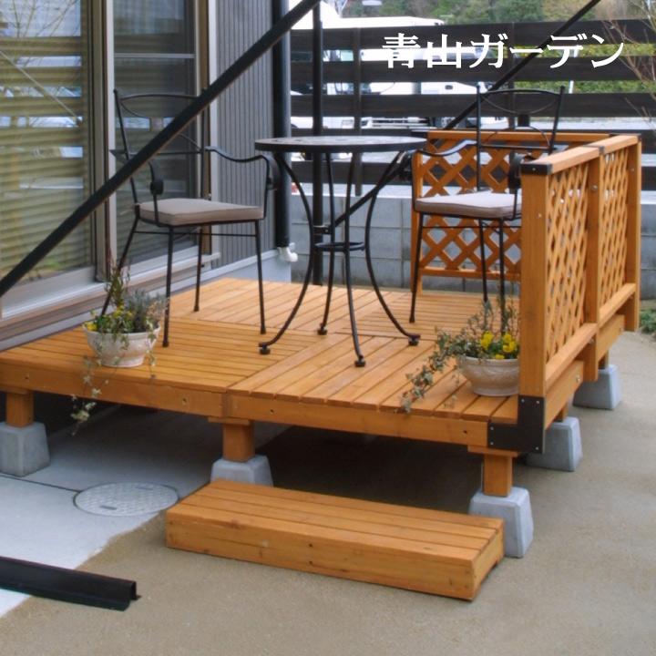 デッキ 天然 木 ウッド セット DIY テラス 床 庭 ガーデン タカショー 母の日 2019 / システムデッキ 1.0坪 ナチュラル /D