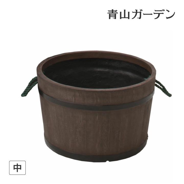 鉢 プランター ポット 大型 ガーデニング 店舗 施設 菜園 寄せ植え タカショー / 樽プランター 中 /B